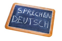 Sprechen deutsch, german is spoken Stock Image
