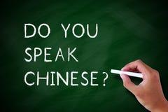 Sprechen Sie Chinesisch stockfoto