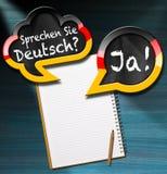 Sprechen Sie Deutsch - bolhas do discurso Foto de Stock Royalty Free