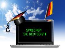 Sprechen Sie Deutsch? - Laptop Computer Royalty-vrije Stock Afbeeldingen