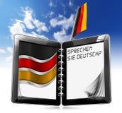 Sprechen Sie Deutsch? - Tablet-Computer Stockbilder