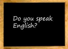 Sprechen Sie Englisch? lizenzfreie stockfotografie