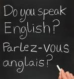 Sprechen Sie Englisch. stockfoto