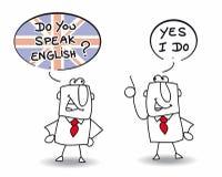 Sprechen Sie Englisch stock abbildung