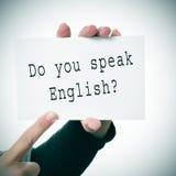 Sprechen Sie Englisch? stockfoto
