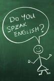 Sprechen Sie Englisch stockfotos