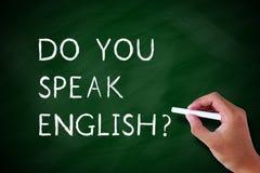 Sprechen Sie Englisch lizenzfreie stockfotos