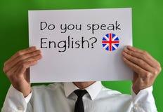 Sprechen Sie Englisch Lizenzfreies Stockfoto