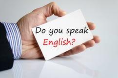 Sprechen Sie Englisch?? stockfotografie