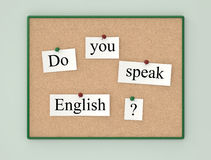 Sprechen Sie Englisch? lizenzfreie stockbilder