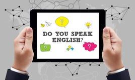 SPRECHEN SIE ENGLISCH? lizenzfreies stockbild