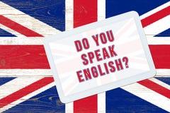 Sprechen Sie Englisch Lizenzfreies Stockbild