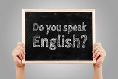 Sprechen Sie englische Sprachkonzept lizenzfreie stockfotos