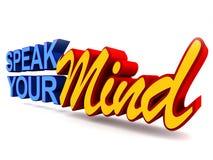 Sprechen Sie Ihren Verstand Stockfoto