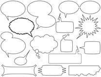 Sprechen Sie Luftblasen und Kästen Stockfotos