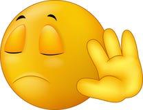 Sprechen Sie mit meinem Handzeichen, smiley Emoticonkarikatur Lizenzfreie Stockfotografie