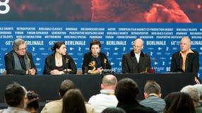 Sprechen Sie Siegern Pressekonferenz während des 68. Berlinale 2018 zu Lizenzfreie Stockbilder