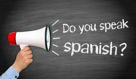 Sprechen Sie Spanisch lizenzfreies stockfoto