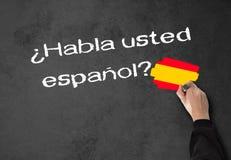 Sprechen Sie Spanisch lizenzfreie stockfotos