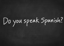 Sprechen Sie Spanisch? lizenzfreies stockbild