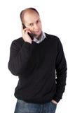 Sprechen am Telefon Lizenzfreies Stockfoto