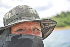 Sprechende Augen einer Frau Lizenzfreies Stockfoto