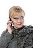 Sprechende Dame Lizenzfreies Stockfoto