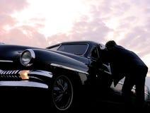 Sprechende klassische Autos lizenzfreie stockfotografie