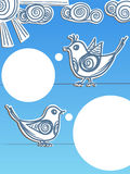 Sprechende Vögel Stockfotografie