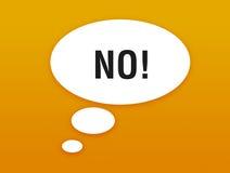 Sprechenluftblase mit Ablehnung Lizenzfreie Stockbilder