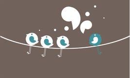 Sprechenvögel lizenzfreie abbildung