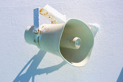 Sprecher auf dem Schiff Stockbilder