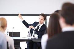 Sprecher beim Geschäftstreffen Stockfoto