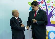Sprecher der Nationalversammlung Mohamed Larbi Ould Khelifa und venezolanischer Präsident Nicolas Maduro der Leute Stockbild