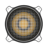 Sprecher des Metall 3d mit Grilltonanlagediskjockey DJ-Werkzeugen Lizenzfreie Stockbilder