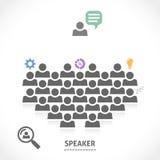 Sprecher liest einen Vortrag zu einem Publikum Lizenzfreies Stockbild