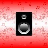 Sprecher, solide Musik Lizenzfreie Abbildung