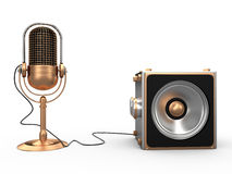 Sprecher und Mikrofon, 3D Stockbilder
