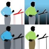 Sprecher-Zusammenfassungen Stockbilder