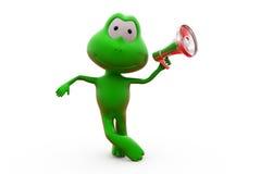 Sprecherkonzept des Frosches 3d Stockfoto