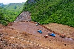 Spreco di estrazione mineraria Immagine Stock Libera da Diritti
