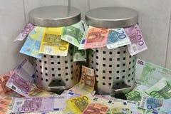 Spreco di soldi Fotografia Stock