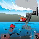 Spreco nucleare   Immagini Stock Libere da Diritti