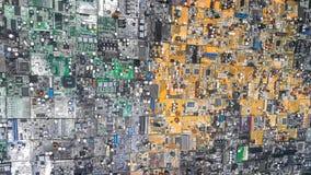 Spreco rifiutato dei bordi dei componenti elettronici Immagini Stock Libere da Diritti
