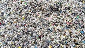 Spreco rifiutato della plastica come combustibile della biomassa Immagini Stock
