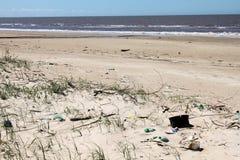 Spreco sulla spiaggia Fotografie Stock