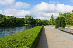 Spree embankment. Berlin. Germany. Stock Photos