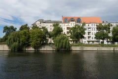 Spree embankment. Berlin Stock Photos