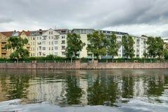 Spree embankment. Berlin Stock Image