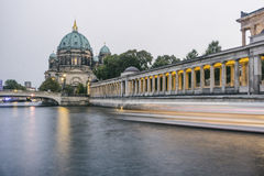 Spree River at Berlin Cathedral Royalty Free Stock Photos